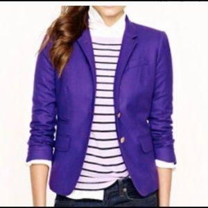 J Crew purple SchoolBoy Blazer size 2🔥